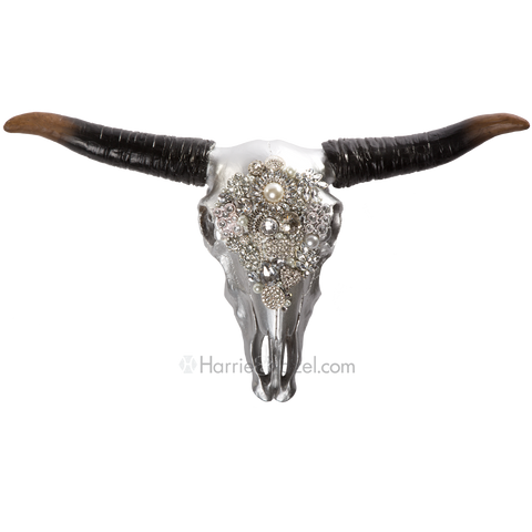 Embellished Stag Head Cow Skull large - Harriet & Hazel  - 1