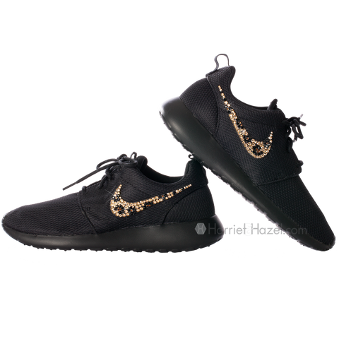 NIKE Roshe Run with Black Cheetah Swoosh - Harriet   Hazel - 1 eedf01463d