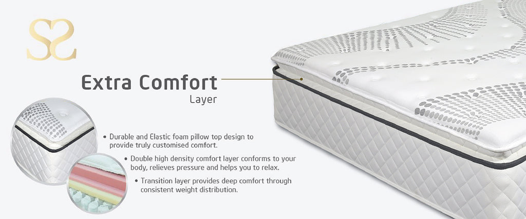 ss bed extra comfort layer