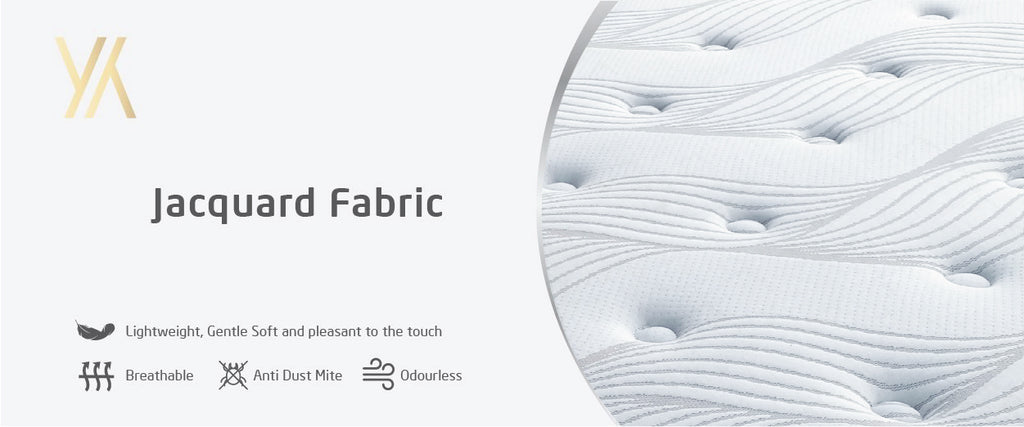 Jacquard fabric in YY SweetDream bed info