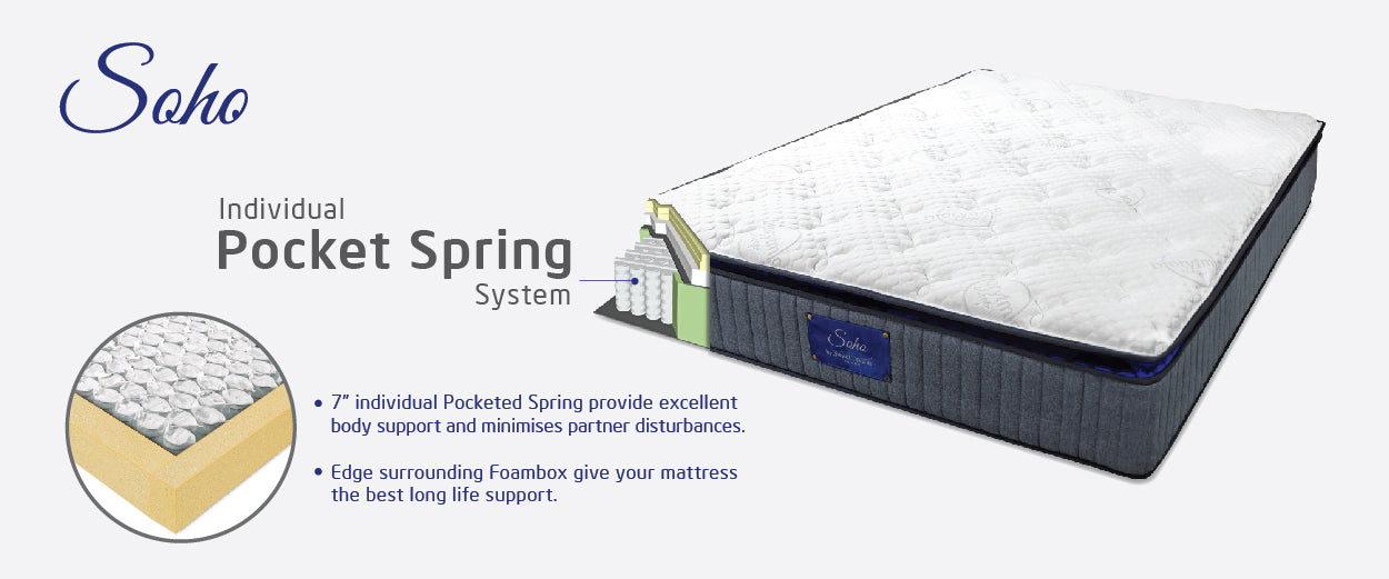 soho bed pocket spring