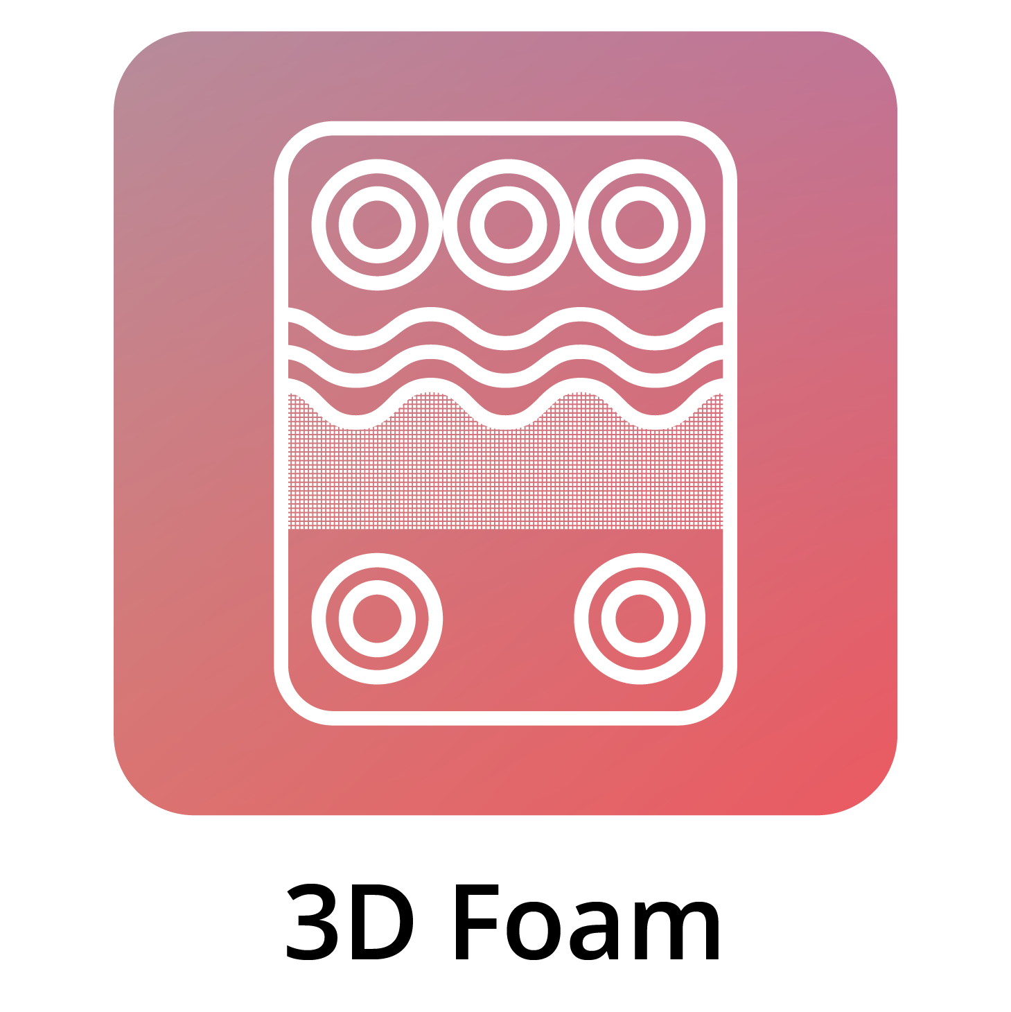 Cutted Foam In Bed Icon