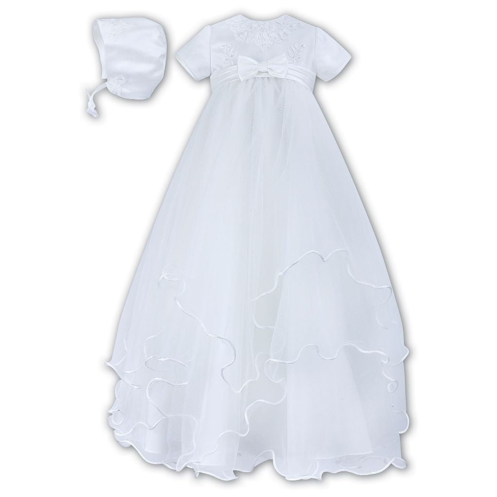 SARAH LOUISE CHRISTENING ROBE & BONNET 1096W