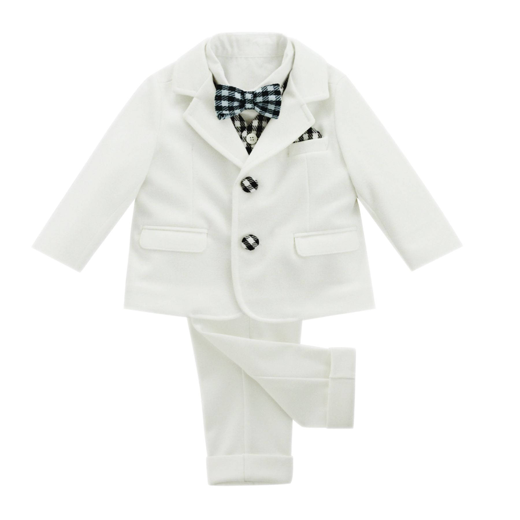 BUFI 6 PIECE SUIT WITH BLACK & WHITE TRIM B10299A