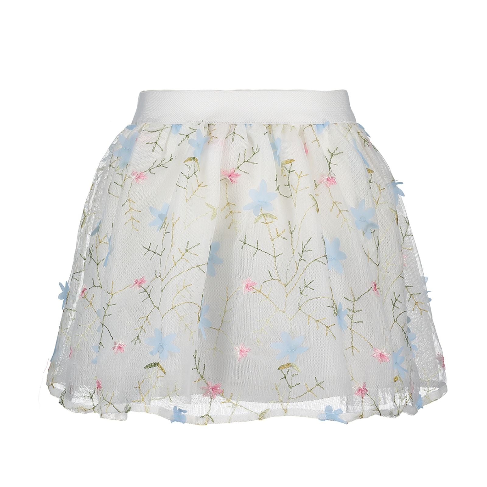 LE CHIC NET SKIRT WITH FLOWERS C801 5731 113