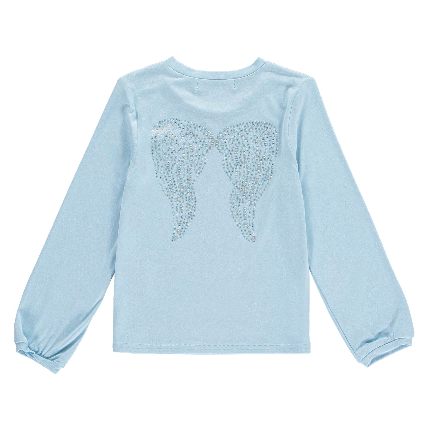ANGELS FACE CRYSTAL WINGS SILKY KNIT TOP CWTD