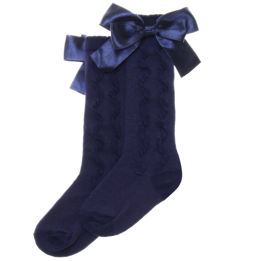 PEX KNEE HIGH SOCKS WITH BOW S5429N