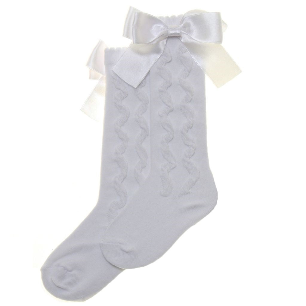 PEX KNEE HIGH SOCKS WITH BOW S5429W