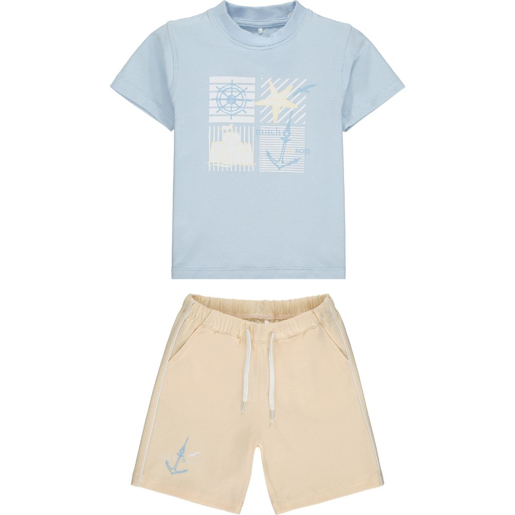 MITCH & SON BENTWICK T SHIRT & SHORTS SET MS21118