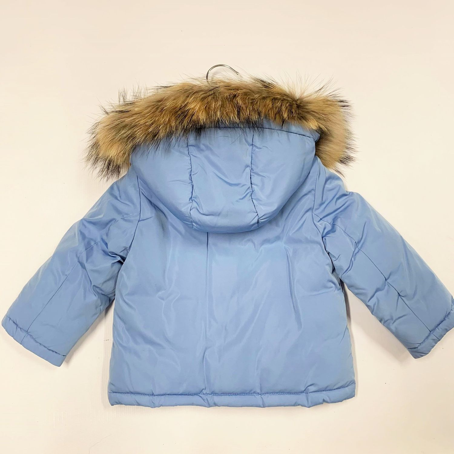 TREAPI & BABY A DOWN FILLED JACKET WITH DETACHABLE FUR TRIM & HOOD ZC81 B
