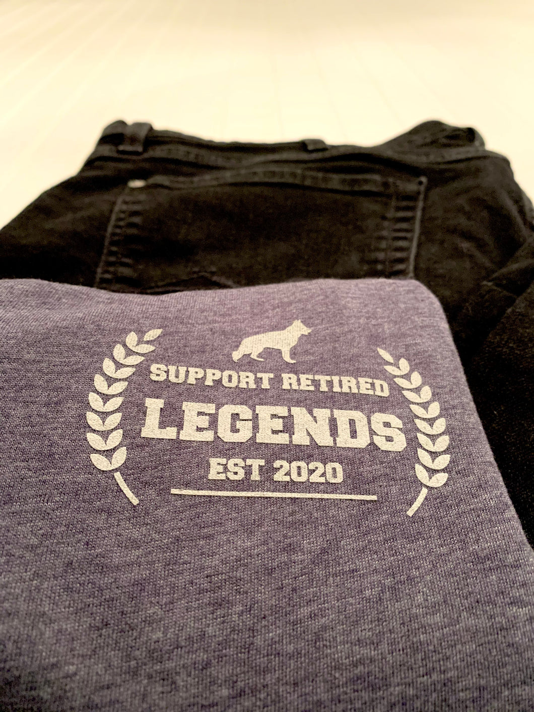 The Legends Royalty Vneck - Heather Navy