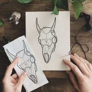 animal skull embroidery