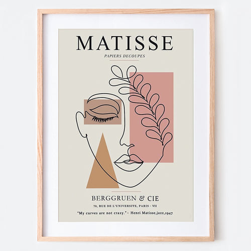 Henri Matisse Woman Sketch Vintage Poster Remake Art Print #S358 5x7 inches/13x18cm Sugar & Canvas