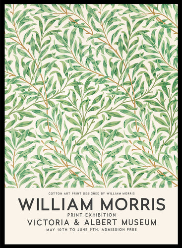 William Morris Willow Bough Vintage Poster Reproduction Art Print #W07 5x7 inches/13x18cm Sugar & Canvas