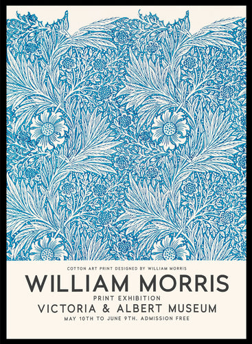 William Morris Marigold 1875 Vintage Poster Reproduction Art Print #W08 5x7 inches/13x18cm Sugar & Canvas
