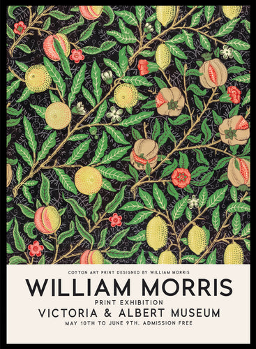 William Morris Tropical Fruits Vintage Poster Reproduction Art Print #W09 5x7 inches/13x18cm Sugar & Canvas