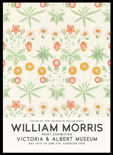 William Morris Daisy Flowers Vintage Poster Reproduction Art Print #W10 5x7 inches/13x18cm Sugar & Canvas