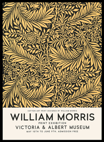 William Morris Larkspur Vintage Poster Reproduction Art Print #W11 5x7 inches/13x18cm Sugar & Canvas