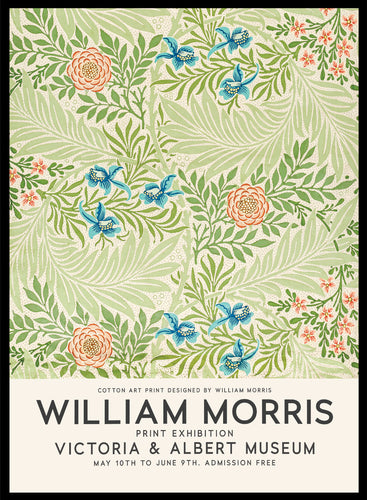 William Morris Larkspur Vintage Poster Reproduction Art Print #W12 5x7 inches/13x18cm Sugar & Canvas