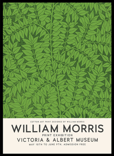 William Morris Branch Vintage Poster Reproduction Art Print #W13 5x7 inches/13x18cm Sugar & Canvas
