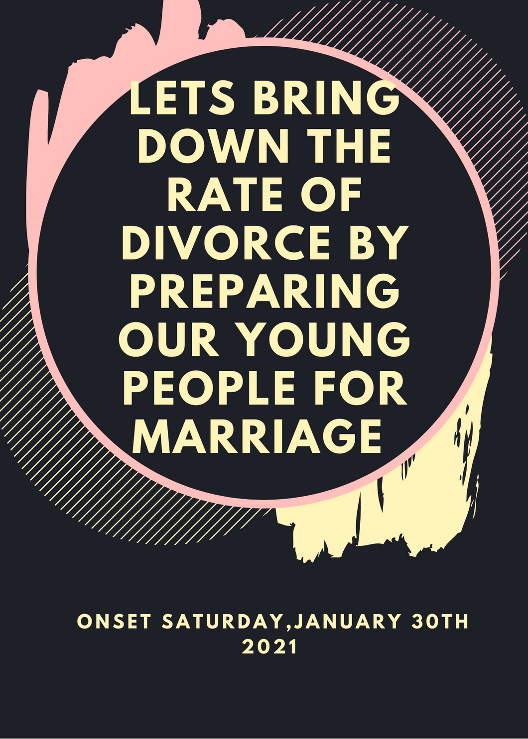 Lets bring down the rate of divorce by preparing our young people for marriage