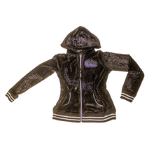 Load image into Gallery viewer, BCBG Velour Zip Hoodie