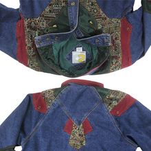 Load image into Gallery viewer, 80s Patchwork Denim Jacket