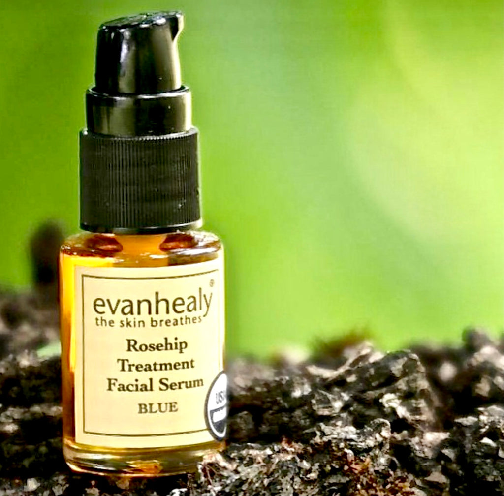 Evan Healy Rosehip Treatment Facial Serum - Blue Ideal for sensitive, reactive, scarred & blemished skin .5oz