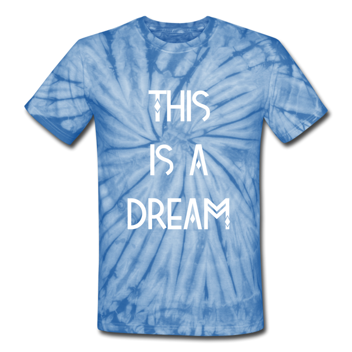 This Is A Dream Tie Dye T-Shirt - spider baby blue