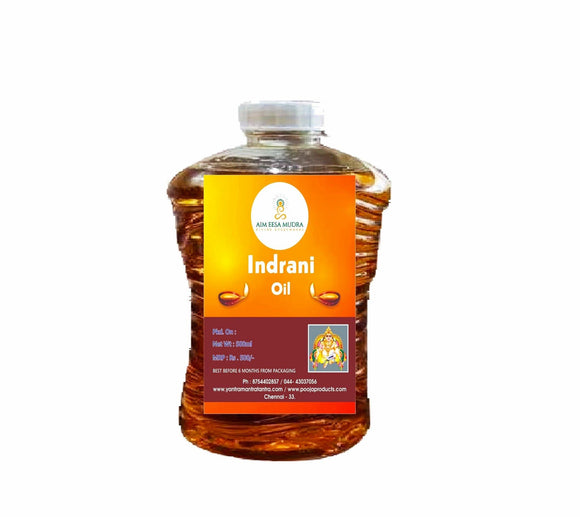 Indrani  Oil (500ml)  (𝗧𝗛𝗜𝗦 𝗣𝗥𝗢𝗗𝗨𝗖𝗧 𝗔𝗩𝗔𝗜𝗟𝗕𝗟𝗘 𝗢𝗡𝗟𝗬 𝗜𝗡𝗦𝗜𝗗𝗘 𝗜𝗡𝗗𝗜𝗔) - PoojaProducts.com