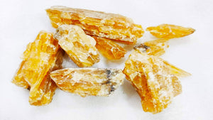 Natural Citrine Raw Stone (100grm) - PoojaProducts.com