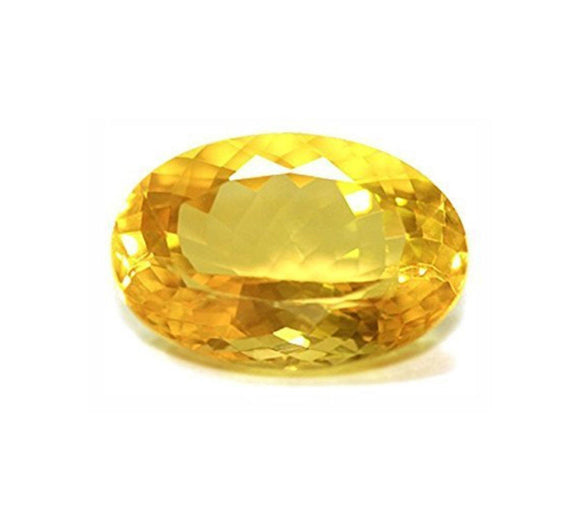 Yellow Oval Citrine  (8Carat) - PoojaProducts.com