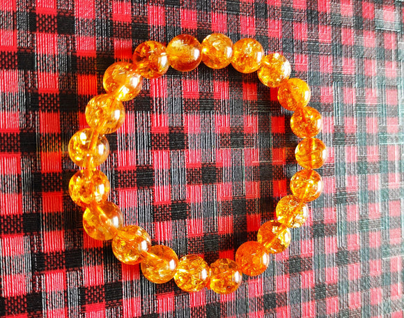 Citrine Gemstone Bracelet 10MM