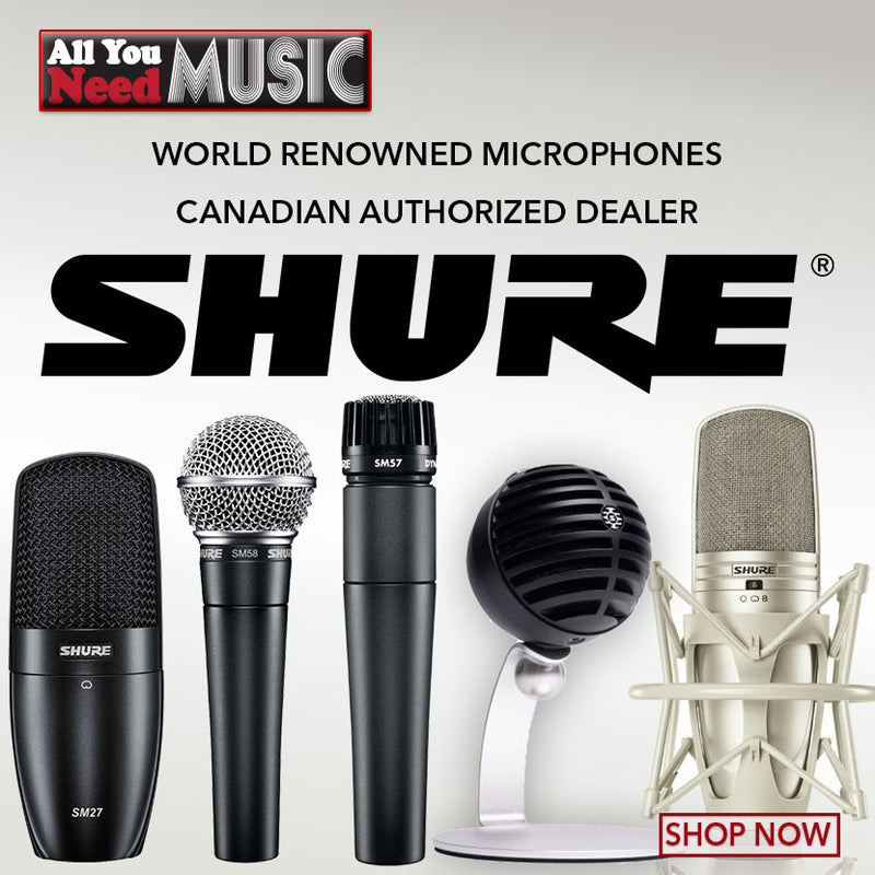 SHURE. World Renowned Microphones Canadian Authorized Dealer
