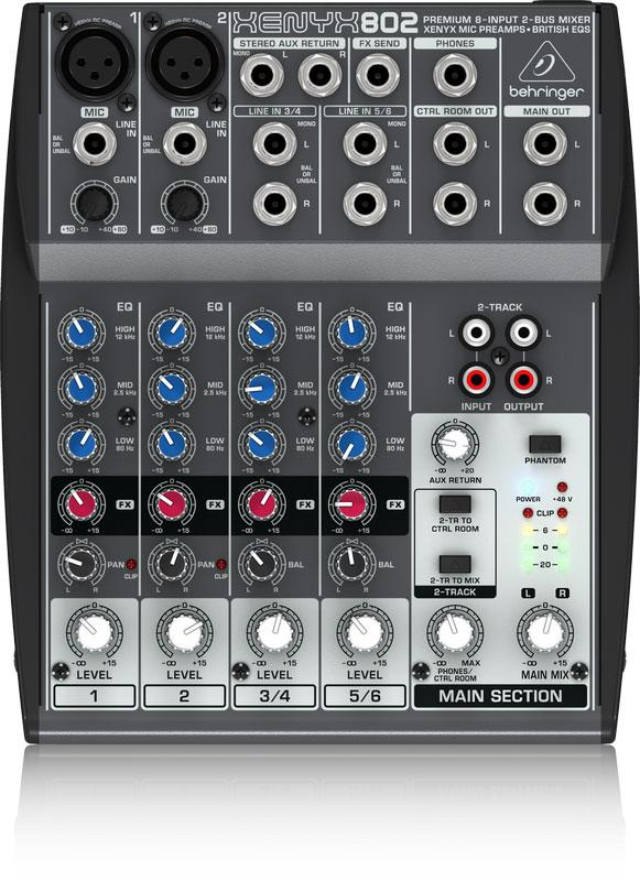 Behringer Xenyx 802 8-Input 2-Bus Mixer-All You Need Music, Canadian Music Store