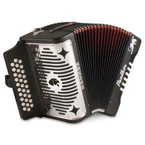 Hohner Black Panther GCF Diatonic Accordion-All You Need Music, Canadian Music Store