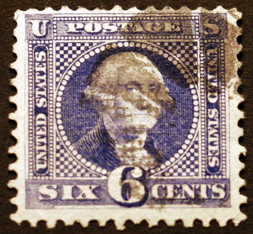 #115 6c Ultramarine 1869 Used Neat Cork Cancel CV $225+