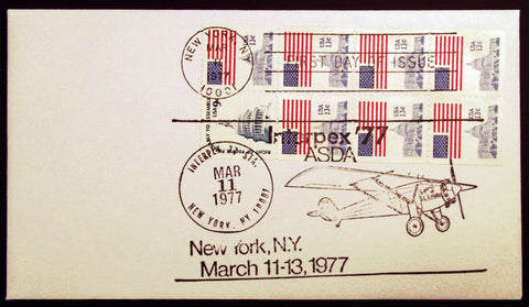 #1623a Booklet Pane of 8 1977 Rare First Day Cover