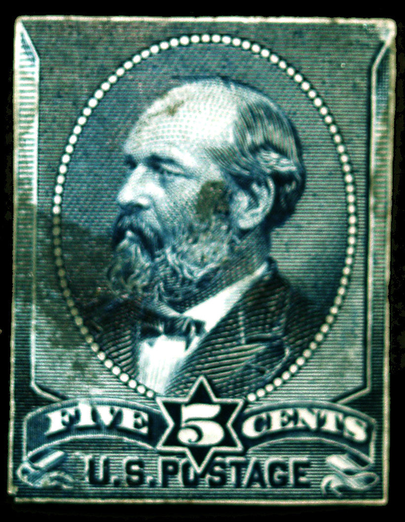 216P3 5c Indigo 1888 Grant Proof on India Paper Scarce