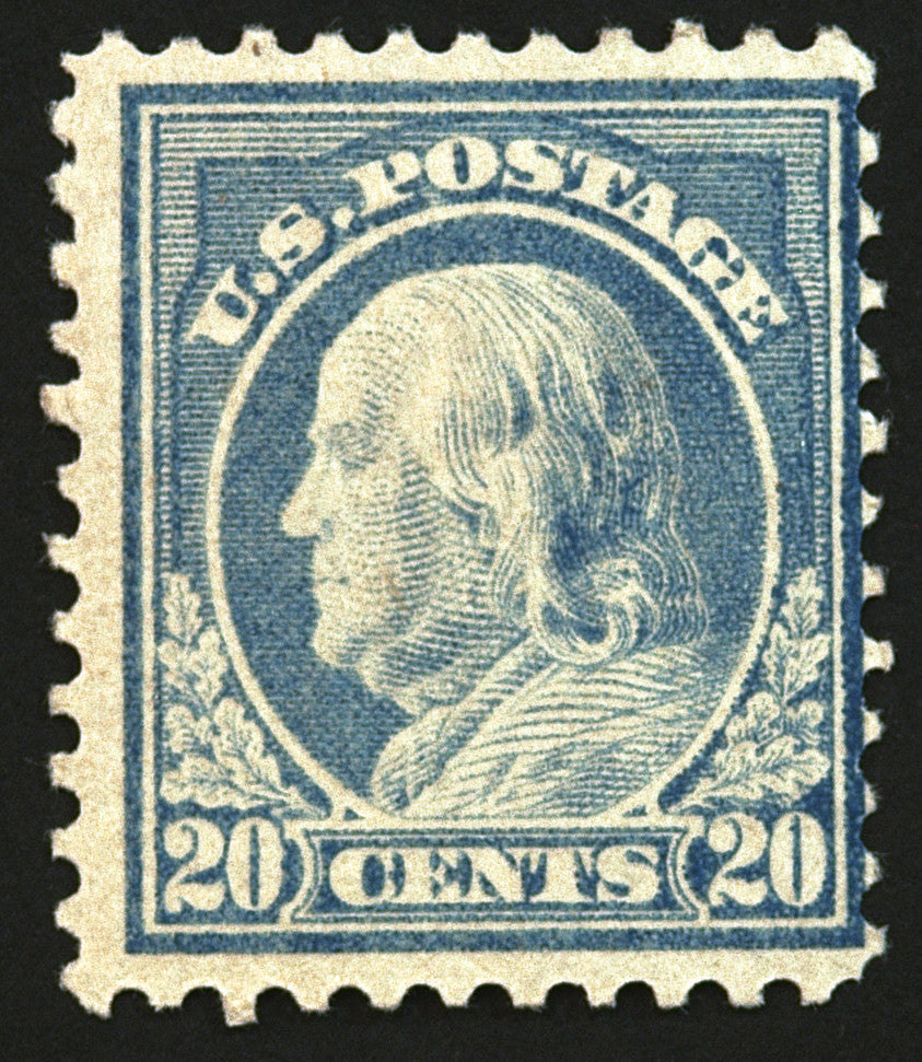 #515 20c Light Ultramarine 1917  Full OG MLH CV $45