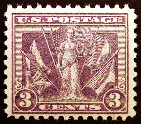 #537a 3c Deep Red Violet 1919 Fresh MNH OG Rare