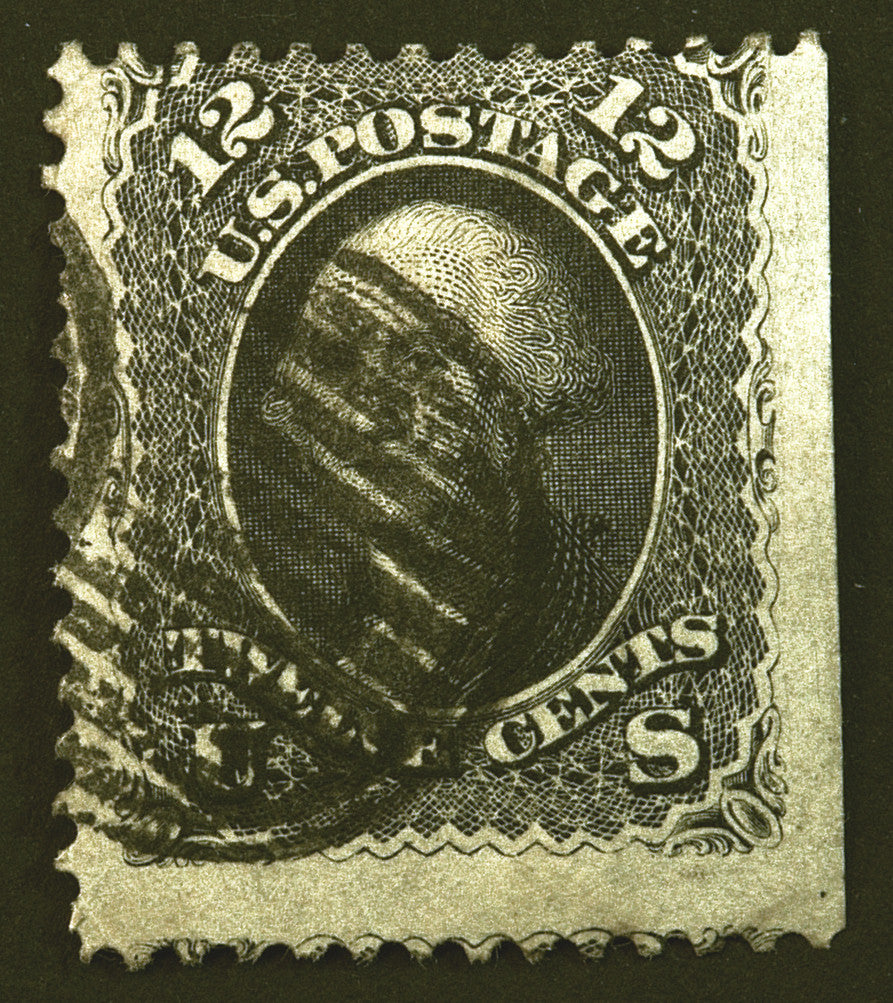 U.S. #69 12c Black 1861 Used Amazingly Fresh CV $120