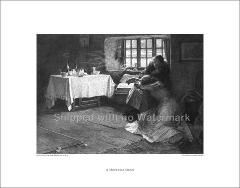 "A HOPELESS DAWN Engraving Reproduction 11""x14"" $39.95"