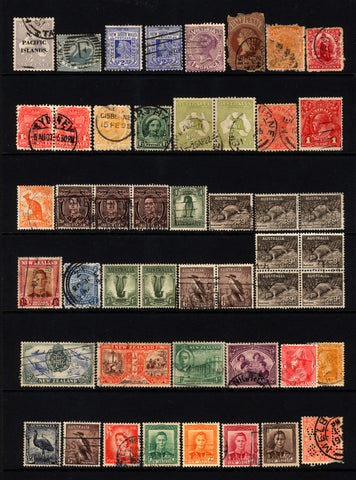 Australia & New Zealand 1890-1947 Small Used Lot 38 items