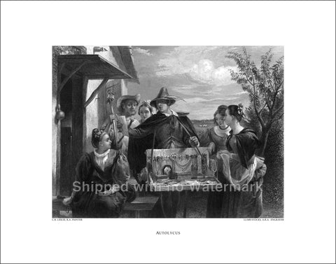"AUTOLYCUS Engraving Reproduction 11""x14"" $39.95"