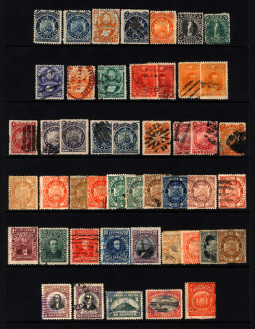 Bolivia 1868-1919 M&U 19th & Early 20th Century Lot 47 items
