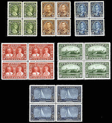 Canada #211-#216 1c-13c 1935 King George V *MNH* Blocks of 4 Gem Fresh