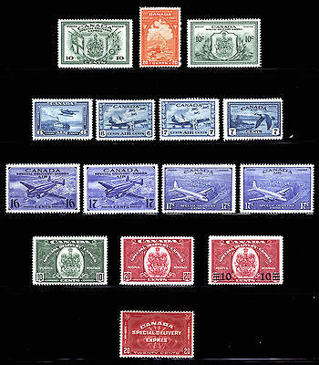 Canada #C6-#E11 Air Post - Special Delivery 1938-46 VF-XF *MLH* CV $379