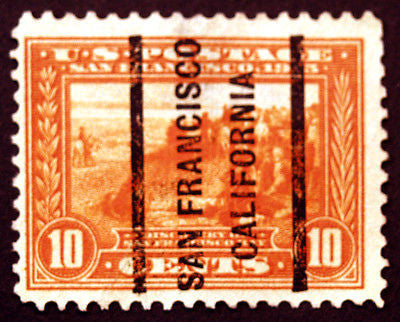 #400a 10c Orange 1913 VF Used San Francisco Precancel Rare