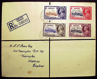 Bermuda #100-103 1935 KGV VF Used Set on Registered Cover